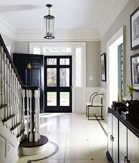 revere-pewter-HC-172-entryway-on-traditional-home