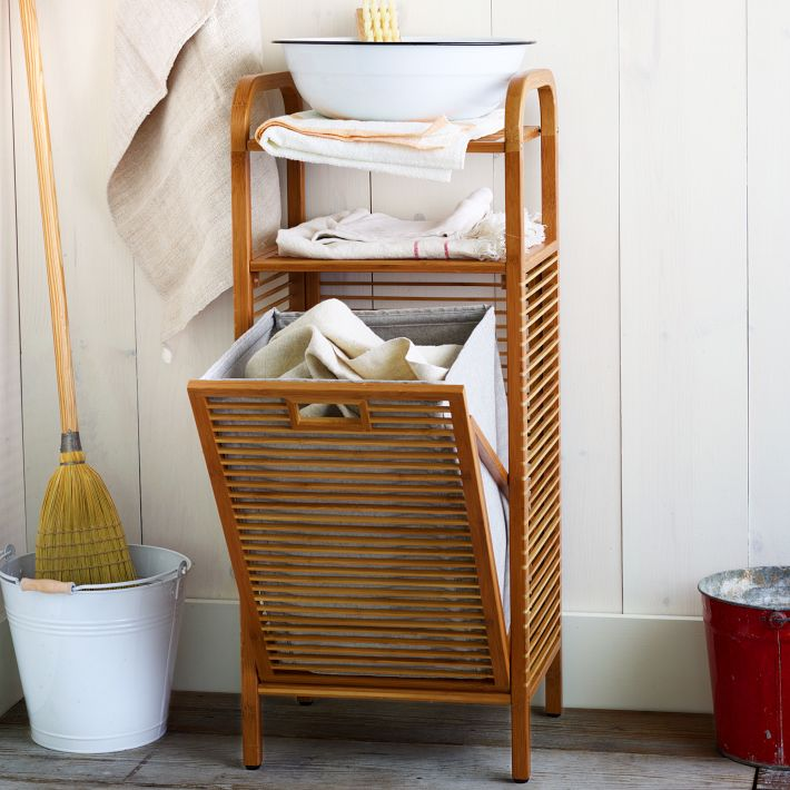 Bamboo Laundry Hamper, West Elm