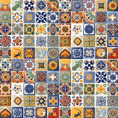 Handpainted Custom Talavera Tile, Casa Daya
