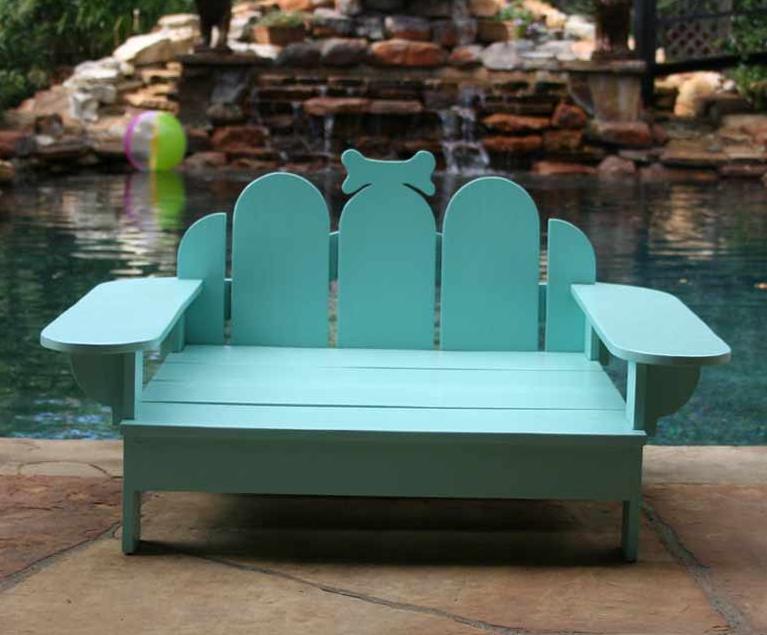 Adirondack Outdoor Bridgeport Tiffany Blue Pet Bed, Sweeten Your World