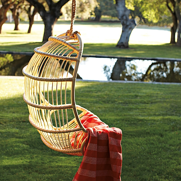 Hanging Rattan Chair, Serena & Lily