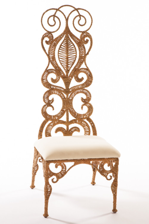 Rope Lace Slipper Chair, Jo-Liza (Available at Wayfair)