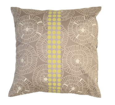 Lily Silver Silk Pillow Cover, Kouboo