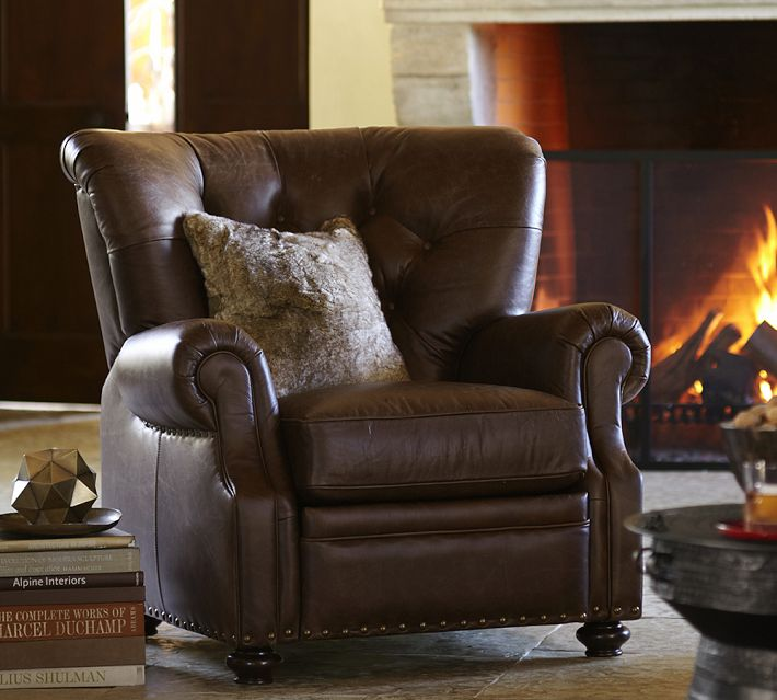 Lansing Leather Recliner, Pottery Barn