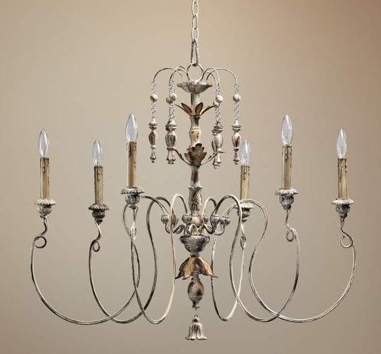 """Quorum Salento 6-Light 32"""" Wide Parisian White Chandelier, Lamps Plus"""