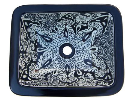 Talavera Handpainted Rectangular Sink, Casa Daya Tile
