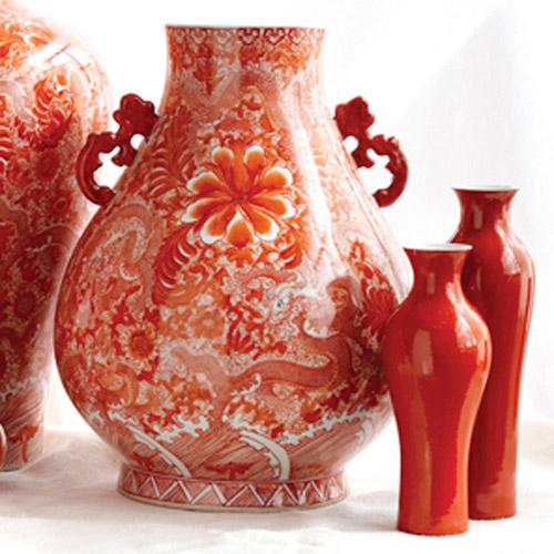 Dragon Coral Handled Vase, FDO Group