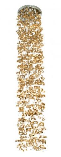 Cascading Pringle Chandelier in Capiz Seashell, Kouboo