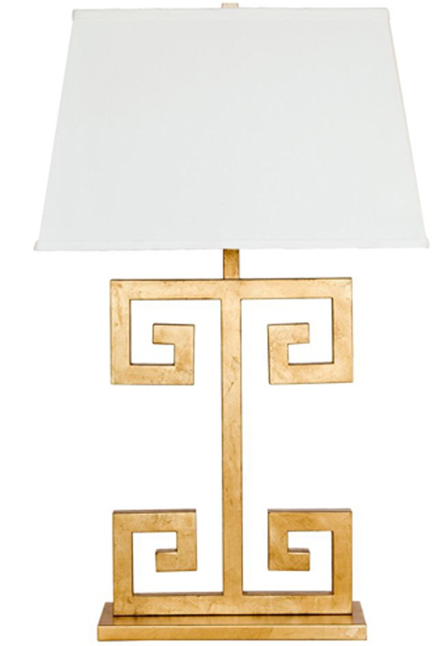 Clayton Greek Key Lamp, High Fashion Home