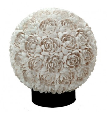 Floral Clamrose Sphere Table Lamp, Kouboo
