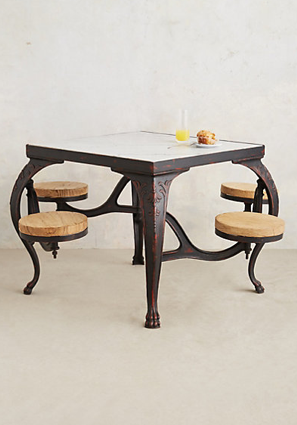 Marbled Swing Stool Table, Anthropologie