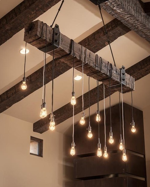 Reclaimed Woodbeam Chandelier, AES Mobile Studios (Available on Houzz)