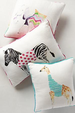 Safari Saunter Pillow, Anthropologie