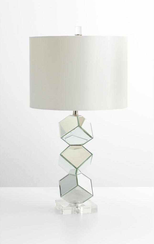 Illusion Table Lamp, Cyan Design