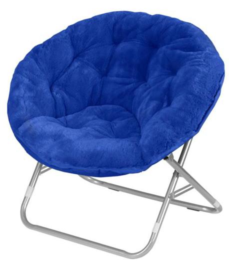 Mainstays Faux-Fur Saucer Chair