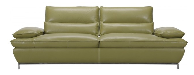 Naomi Olive Green Top Grain Full Leather Sofa, Modern Manhattan (Available on Houzz)