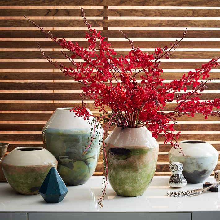 Watercolor Glaze Vases, West Elm