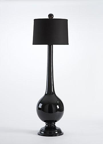 Black Ceramic Lamp, Chelsea House