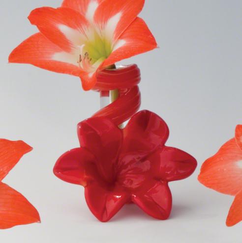 Red Lily Bud Vase, Global Views