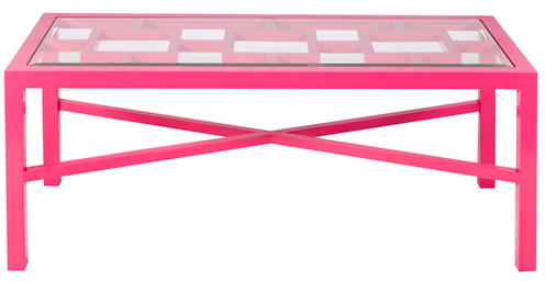 Winter Harbor Pink Coffee Table, Worlds Away