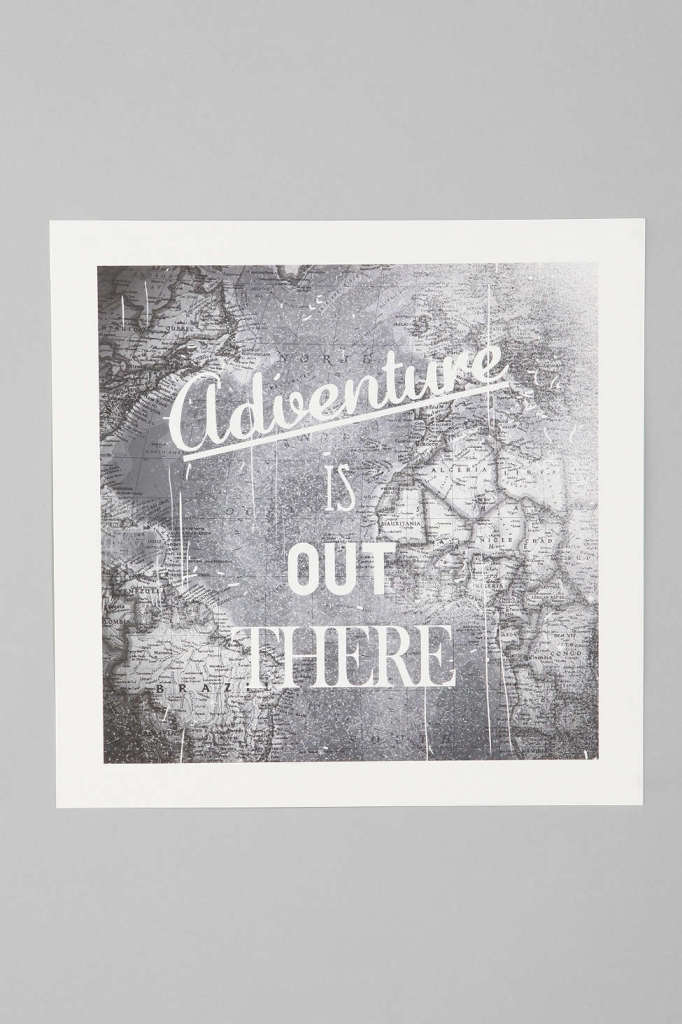 Zach Terrell Adventure Is Out There Art Print, Urban Outfitters