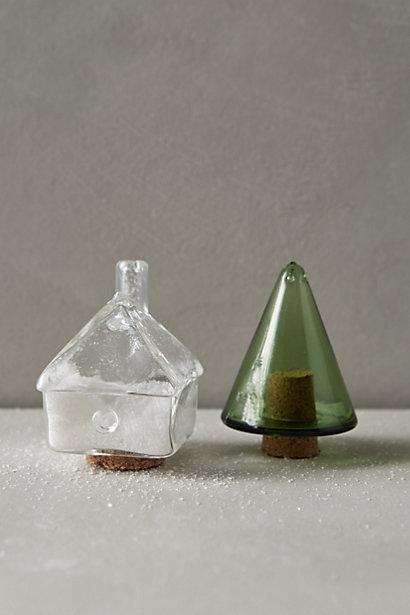 Holiday Village Salt & Pepper Shakers, Anthropologie