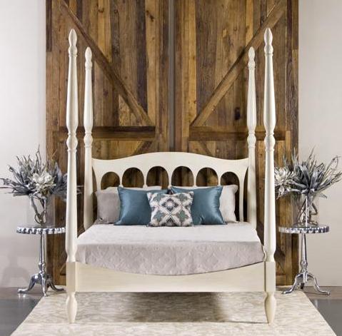 Castilla Bed in Antique White, Cottage & Bungalow