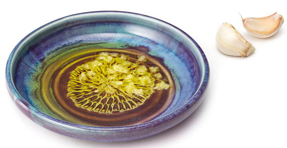 Garlic Grater and Oil Dipping Dish by Donna and Randall Rollins, Uncommon Goods- $15.00
