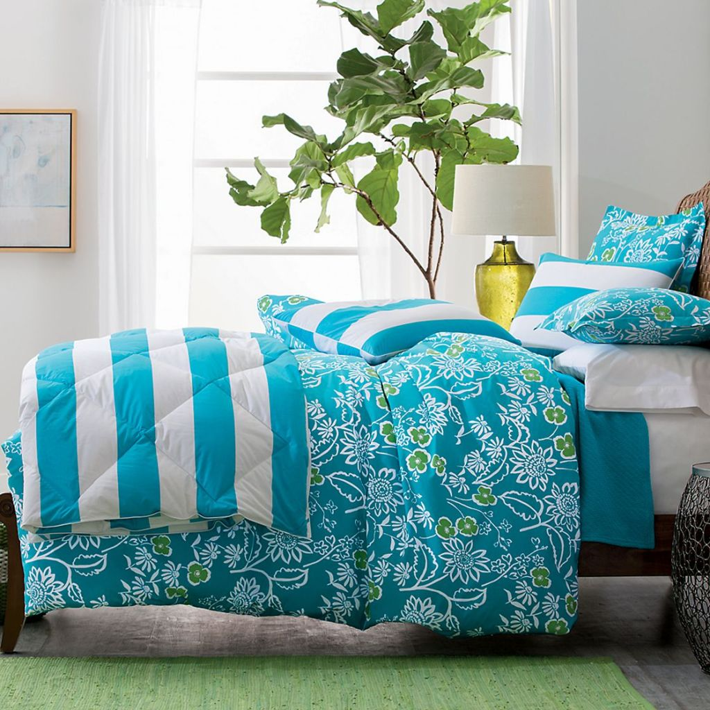 Bayside Floral Duvet Cover/Sham, The Company Store