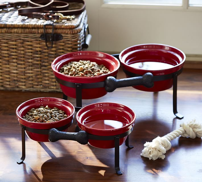 Cambria Pet Bowl & Stand, Pottery Barn
