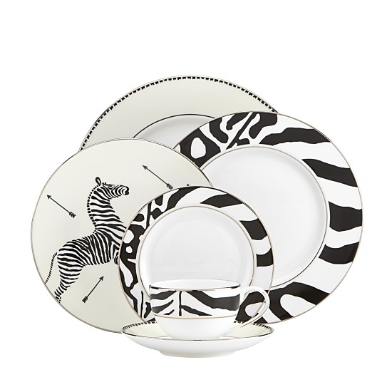 Scalamandre by Lenox Zebra Platinum Dinnerware, Available at Bloomingdale's