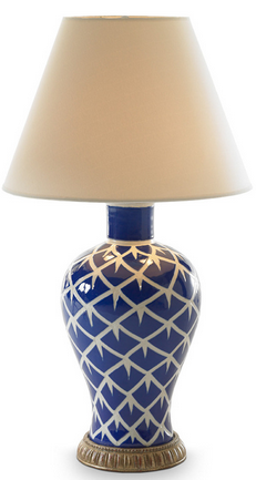 Chicken Feather Lamp (Blue), Bunny Williams Home