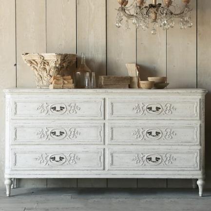 Eloquence Bronte Weathered White Dresser, The Bella Cottage