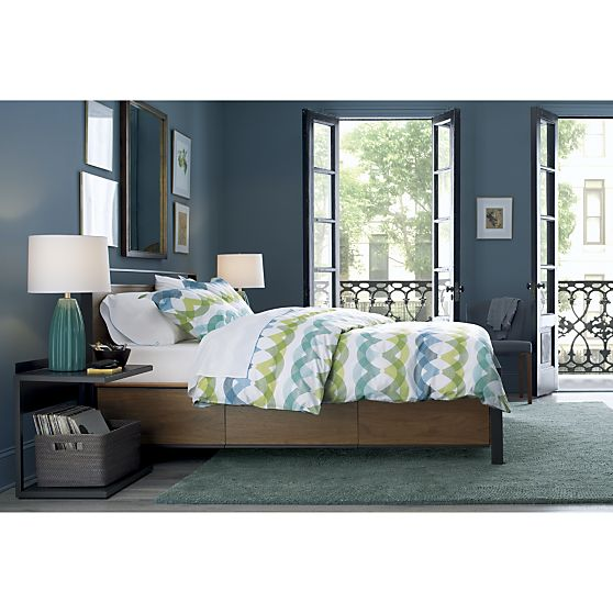 Bowery Storage Bed, Crate & Barrel