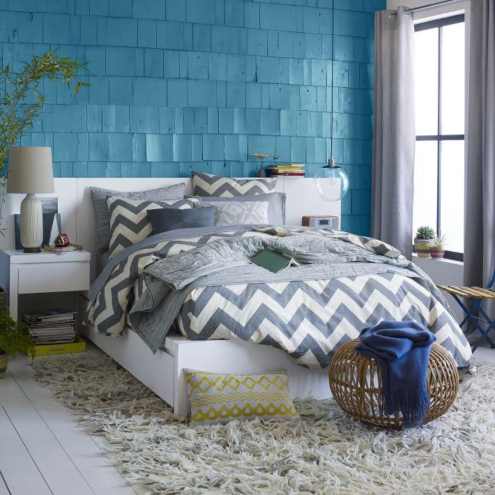 Storage Bed + Two Nightstands, West Elm