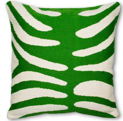 Green Zebra Pop Throw Pillow, Jonathan Adler