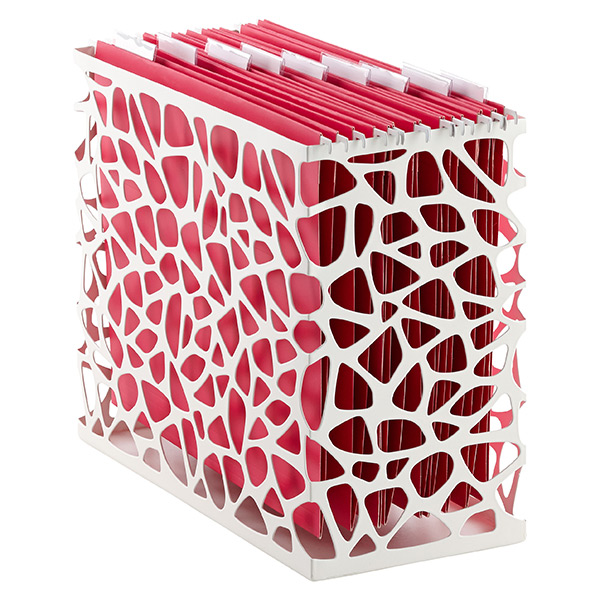 White Nest Desktop File- The Container Store