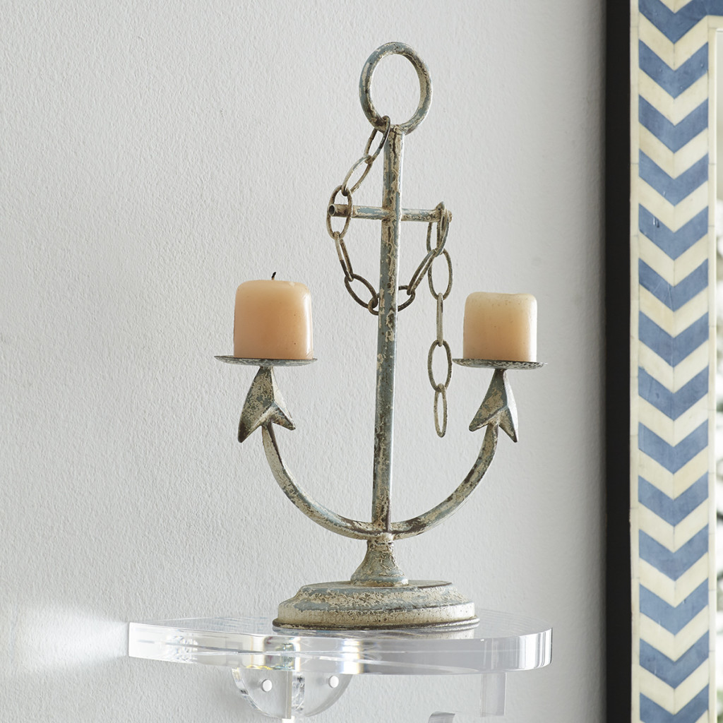 Anchor Candleholder- Wisteria