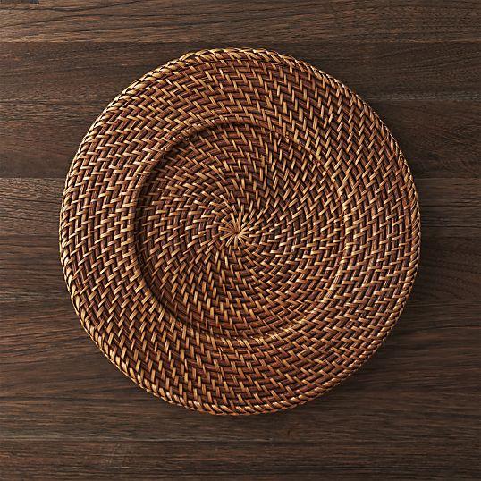 Artesia Rattan Charger Plate- Crate & Barrel