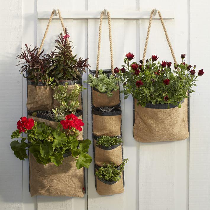 Hanging Bag Planters- West Elm