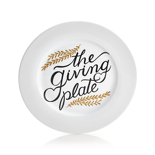 The Giving Plate- Crate & Barrel